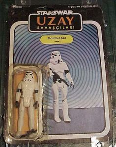 Turkish Star Wars action figures are  marvelously shitty toys - and the cards and names are next level.  Check out this psychedelic package on this StormTROPER.  lol