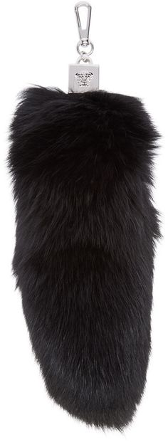 Versace Black Fur Tail Keychain
