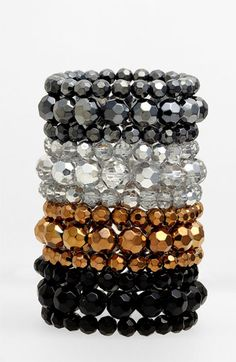 Nordstrom Bead Stretch Bracelet (Set of 3) available at #Nordstrom