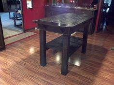 Finished!!!!! Kitchen island made from recycled pallets and deck boards