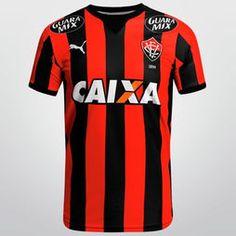 Camisa Puma Vitória I 2015 s/nº - Preto+Vermelho