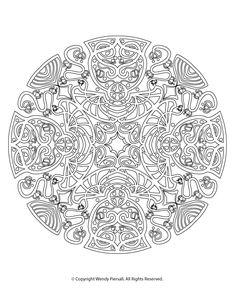 Vintage Art Nouveau Mandala Coloring Page for Adults (and Patient Kids!) @ Vintage Fangirl