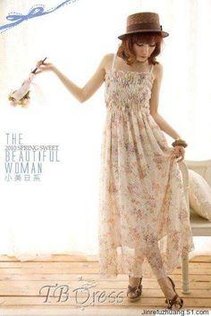 http://www.tbdress.com/product/Beautiful-Bohemian-Chiffon-Petty-Flowers-Maxi-Dress-9679671.html Love this as a bridesmaid dress