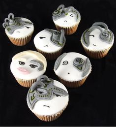 Geeky cupcakes, star trek cupcakes