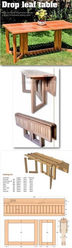 Drop Leaf Dining Table Plans - Furniture Plans and Projects | WoodArchivist.com