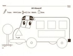 Full size of toddler math printables practice sheets learning bus trace worksheet for kids crafts and Transportation Preschool Activities, Transportation Worksheet, Transportation Theme, Color Activities, Tracing Worksheets, Preschool Worksheets, Vocabulary Worksheets, Preschool Printables, Christmas Worksheets