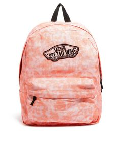 Vans Realm Backpack in Coral with Glitter Finish