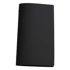 Tuscan Leather A4 Narrow Black A black leather restaurant menu cover in a popular narrow format. Your menu sheets are secured with included silver borchie pins.