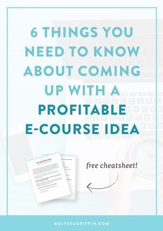 6 Things You Need to Know About Coming Up With a Profitable E-Course Idea. Are you a blogger or online entrepreneur who wants to earn passive income? Click through to find your perfect product idea!