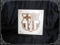 Trabajos de pirograbado realizados en madera, nombres, escudos de fútbol,... lo que tu quieras...