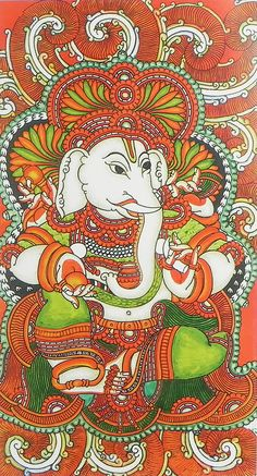 Lord Ganesha (Reprint on Paper - Unframed))