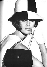 Two tone full brim hat. Nicole De La Marge by Norman Eales 1965