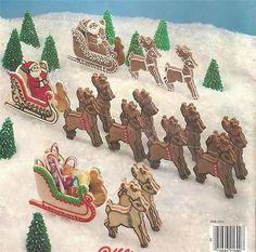 Santa, Sleigh, Reindeer Cookie Cutters - 3 Dimensional (like Gingerbread House