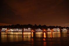 Boathouse row, Philadelphia.