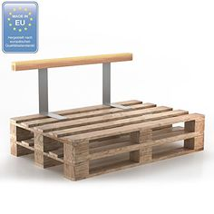 The side elements are made from high quality and easy to clean material. The backrest and armrest elements are attached directly to the pallet with two steel brackets. Made from solid wood, it's ideal for sitting on when covered in a pallet cushion.
