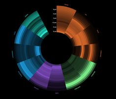 Visualizing Daily Activities With Media Wheel - Blog About Infographics and Data Visualization - Cool Infographics