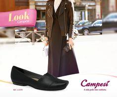 Uma sapatilha macia e flexível que super combina com diversas composições.