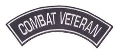COMBAT VETERAN PATCH BOTTOM ROCKER FOR BIKER VETERAN VEST JACKET NEW BACK PATCH EMBLEM PATCHES -- Awesome products selected by Anna Churchill