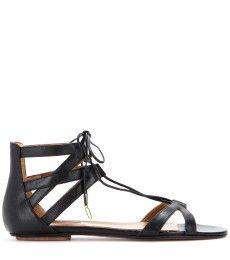 Aquazzura - Beverly Hills leather sandals - mytheresa.com