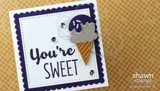 The Cool Treats bundle by Stampin' Up! is such a fun collection of ice cream and popsicle images combined with great phrases in typestyles you'll love. Today I'm sharing a sweet little card you can make with a few supplies and lots of layering. This 3-inch by 3-inch card would be a great attachment for a small …