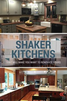 Shaker-style kitchens that will make you want to renovate yours. #shaker