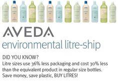 Good for you. Good for the planet. #pureAveda #litreship #Aveda