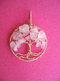 Tree of Life bff jewelry Pendant in baby pink by celestynasgarden, $36.00