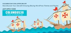 Columbus Day Deal – Flat 30% Off on WP themes, plugins
