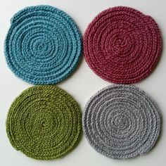 Coasters FREE knitting pattern. Get the downloadable PDF from LoveKnitting.