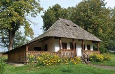 """Traditional houses in rural Romania (case traditionale romanesti) *** Upon arriving in her new home country in the young wife of Prince Carl of Romania noticed in her writings: """"Every R… Old Country Houses, Old Houses, Rural House, House In The Woods, European House, Village Houses, The Beautiful Country, Modern Landscaping, Traditional House"""