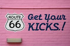 Pretty in Pink - Route 66 Los Angeles sign