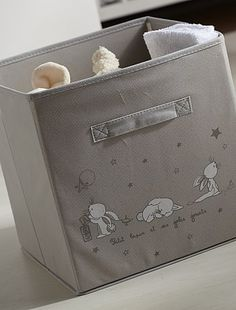 Caja plegable de tela                                                                                         gris Bebé niña