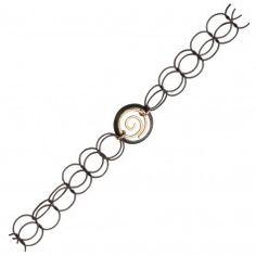 Tracy Arrington B137 GO Bracelet available at www.poppyarts.com!  $134  The new look of classic in oxidized silver and 14K gold fill.  #classic #tracyarrington #poppymadebyhand