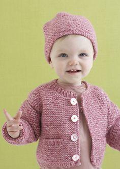 Ravelry: Grace Cardi and Hat pattern by Lion Brand Yarn