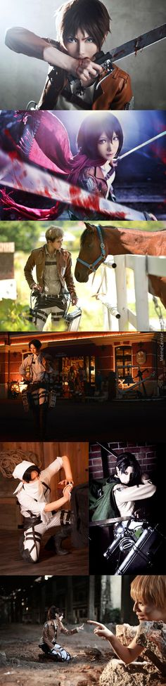 attack on titan funny pictures | Attack On Titan Cosplay... Eren Don't Drop The Soap Next To Mikasa