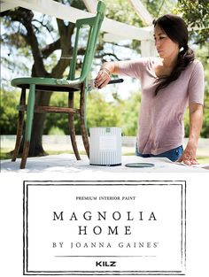 Magnolia Home Kilz Paint with Joanna Gaines for those looking for the latest trend in home paints for walls and home decor projects Kilz Paint, Chalk Paint, Painting Tips, House Painting, Painting Techniques, Interior Paint Colors, Interior Painting, Paint Colours, Painting Furniture