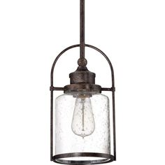 View the Miseno MLIT2549B1 Single Light Mini Pendant with Seedy Cylinder Glass Shade at Build.com.