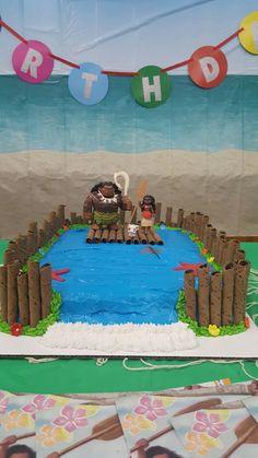 Moana birthday cake made by Vicki Miller Moana Theme Birthday, Luau Birthday, Baby Girl Birthday, 6th Birthday Parties, Birthday Ideas, Birthday Cake, Moana Y Maui, Moana Party, Luau Party