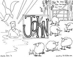 Gospel of John Colouring page Children