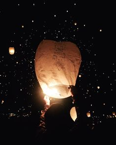 """sent a lantern off in memory of our baby girl tonight. the other day i was listening to the radio and ho hey by the lumineers came on. the words """"i belong with you you belong with me you're my sweetheart"""" had me in immediate tears and it was the perfect note to add to our lantern. tonight was magical. by heyceebee"""
