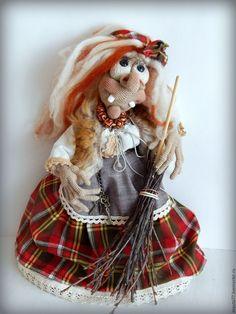 Купить Ягуля-красотуля. Интерьерная кукла-оберег - баба яга, оберег, кукла интерьерная
