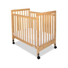 Foundations SafetyCraft Slatted Compact Crib - 1631040