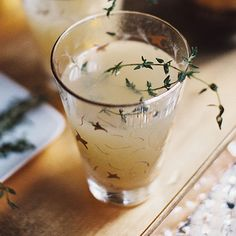 The Must-Drink Fall Cocktail You Haven't Tried | Pear Nectar and Thyme Mimosa