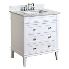 Eleanor 30-inch Vanity (Carrara/White)