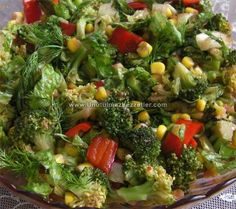 Brokolili Salata Vejeteryan yemek tarifleri – The Most Practical and Easy Recipes Healthy Salads, Healthy Cooking, Healthy Eating, Vegetable Recipes, Vegetarian Recipes, Vegetarian Appetizers, Turkish Salad, Appetizer Salads, Food Decoration