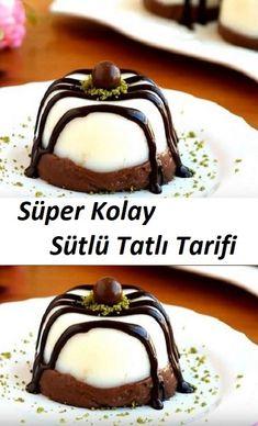 Super Easy Milky Dessert Recipe - new site Sweets Recipes, Easy Desserts, Cookie Recipes, Delicious Desserts, Pudding Desserts, Easy Recipes, Cheap Meals, Easy Meals, Turkish Recipes