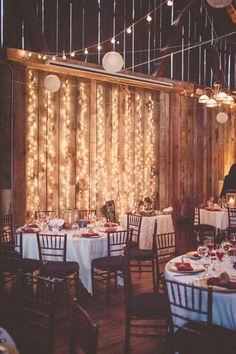 Wedding ceremony lighting idea