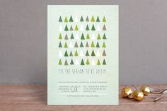 Jolly Trees Holiday Party Invitations by Karidy Walker at minted.com