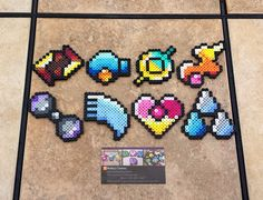 b8e7e7e667e20 Hoenn Gym Badges - Pokemon Perler Bead Sprites by  MaddogsCreations.deviantart.com on