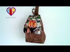Bolsa mochila de tecido Janee - Maria Adna Ateliê - Cursos e aulas de bolsas de tecido - YouTube